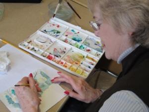 Doris Rice watercolor class
